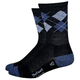 Defeet Wooleator Hitop Argyle Sock Men's Size Small in Grey