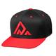 Deity Kingpin Snapback Hat Men's in Black/Red