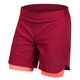 Pearl Izumi W's Journey Shorts 2019 Women's Size 12 in Beet Red/Sugar Coral