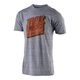 Troy Lee Designs Block Party Tee 2019 Men's Size Small in Vintage Gray Snow