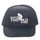 DHDWEAR Never Too Old Trucker Hat Men's in Black
