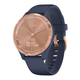 Garmin Vívomove 3S Watch Rose Gold Case W/ Navy Blue Silicone Band