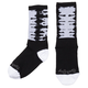 All-City Darker Wave Cycling Socks Men's Size Large/Extra Large in Black/White