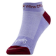 Sockguy Wine O'Clock Cycling Socks Women's Size Small/Medium in White/Red