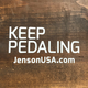 JensonUSA Keep Pedaling Decal