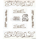 Surly 1X1 Frame Decal Set