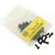 Wheelsmith Brass Spoke Nipples 50 Bag Silver, Brass, 2.0, 14 Gauge