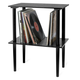 Victrola Wooden Stand with Record Holder (Black)