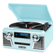 Victrola Retro Record Player with Bluetooth and 3-speed Turntable (Teal)