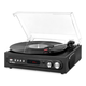 Victrola All-in-1 Bluetooth Record Player with Built in Speakers and 3-Speed Turntable (Black)