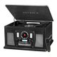 Victrola Navigator 8-in-1 Classic Bluetooth Record Player with USB Encoding and 3-speed Turntable (Black)