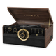Victrola 6-in-1 Wood Empire Bluetooth Record Player with 3-Speed Turntable, CD, Cassette Player and Radio (Espresso)