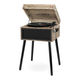 Victrola Liberty Bluetooth Record Player Stand with 3-Speed Turntable (Farmhouse Oatmeal)