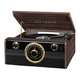 Victrola Wood Metropolitan Bluetooth Record Player with 3-speed Turntable and Radio