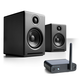 Audioengine A2+ Limited Edition Premium Powered Desktop Speaker Package (Black) With B1 Bluetooth Music Receiver