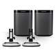 Sonos Play:1 All-In-One Compact Wireless Music Streaming Speaker with Flexson Desk Stands (Black)