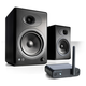 Audioengine A5+ Limited Edition Classic Powered Desktop Speaker Package (Black) With B1 Bluetooth Music Receiver