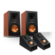 Klipsch RP-160M Reference Premiere Monitor Speakers with RP-140SA Add-On Dolby Atmos Enabled Elevation Speakers (Cherry/
