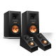 Klipsch RP-160M Reference Premiere Monitor Speakers with RP-140SA Add-On Dolby Atmos Enabled Elevation Speakers (Black)