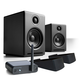 Audioengine A2+ Limited Edition Premium Powered Desktop Speakers Package (Black) With B1 Bluetooth Music Receiver and DS1 Speaker Stands
