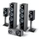 Focal Chora Speaker System with 806ST Speaker Stands (Black)