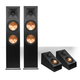 Klipsch RP-280F Reference Premiere Floorstanding Speaker with RP-140SA Add-On Dolby Atmos Enabled Elevation Speakers (Bl