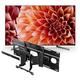 Sony XBR65X900H 65 BRAVIA 4K Ultra HD HDR Smart TV with SU-WL855 Ultra Slim Swivel TV Mount