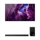 Sony XBR55A8H 55 BRAVIA OLED 4K Smart TV with HDR with HT-Z9F 3.1-Channel Dolby Atmos Sound Bar and Subwoofer
