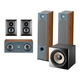 Focal Chora 5.1.2 Surround Sound Speaker Package with Built-In Dolby Atmos Modules and On-Wall Surround Speakers (Dark Wood)