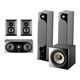 Focal Chora 5.1.2 Surround Sound Speaker Package with Built-In Dolby Atmos Modules and On-Wall Surround Speakers (Black)