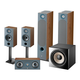 Focal Chora 5.1.2 Surround Sound Speaker Package with Built-In Dolby Atmos Modules (Dark Wood)