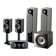 Focal Chora 5.1.2 Surround Sound Speaker Package with Built-In Dolby Atmos Modules (Black)