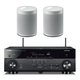 Yamaha RX-A680 AVENTAGE 7.2-Channel AV Receiver with Pair of WX-021BL MusicCast 20 Wireless Speakers (White)