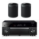 Yamaha RX-A1080 AVENTAGE 7.2-Channel AV Receiver with Pair of WX-021BL MusicCast 20 Wireless Speakers (Black)