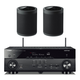 Yamaha RX-A680 AVENTAGE 7.2-Channel AV Receiver with Pair of WX-021BL MusicCast 20 Wireless Speakers (Black)