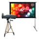 Elite Screens Movie Night Bundle Yard Master 2 58 Outdoor Projector Screen & MosicGO Sport Battery Powered Ultra Short Throw Projector