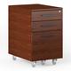BDI Sequel 20 6107 Mobile File Cabinet (Chocolate/Black)