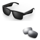 Bose Tenor Rectangular Bluetooth Audio Sunglass Frames with Replacement Lense (Mirrored Silver)