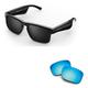 Bose Tenor Rectangular Bluetooth Audio Sunglass Frames with Replacement Lense (Mirrored Blue)