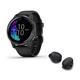 Garmin Venu GPS Smartwatch with Sport True Wireless Bluetooth Earbuds (Black)