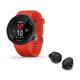 Garmin Forerunner 45 GPS Smartwatch with Bose Sport True Wireless Bluetooth Earbuds (Red/Black)
