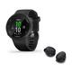 Garmin Forerunner 45 GPS Smartwatch with Bose Sport True Wireless Bluetooth Earbuds (Black)