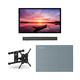 Furrion FDUF55CBR 55 4K Full Shade Outdoor TV bundle with 2.1-Channel Soundbar, TV Mount, and Weatherproof TV Cover