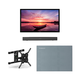 Furrion FDUF49CBR 49 4K Full Shade Outdoor TV bundle with 2.1-Channel Soundbar, TV Mount, and Weatherproof TV Cover