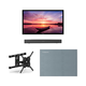 Furrion FDUF43CBR 43 4K Full Shade Outdoor TV bundle with 2.1-Channel Soundbar, TV Mount, and Weatherproof TV Cover