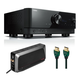 Yamaha RX-V6 7.2-Channel AV Receiver with 6-Outlet Surge Protector and 8K-10K 48Gbps HDMI Cable - 4.92 ft. (1.5m)