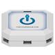 ChargeHub 7-Port USB Universal Charging Station - Square (White)