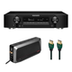 Marantz NR1711 SLIM 7.2-Channel 8K Ultra HD AV Receiver with 6-Outlet Sure Protector and 8K-10K 48Gbps HDMI Cable - 7.38 ft. (2.25m)