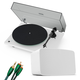 Sonos Vinyl Set with Five Wireless Speaker (White), Pro-Ject T1 Reference Turntable (White) and 3.5mm Male to RCA Male Cable