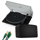 Sonos Vinyl Set with Five Wireless Speaker (Black), Pro-Ject T1 Reference Turntable (Black) and 3.5mm Male to RCA Male Cable